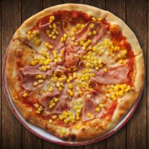 kis sonkás kukoricás pizza